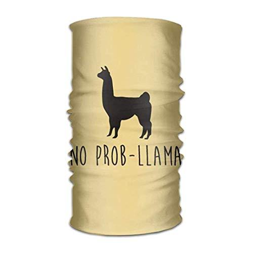 WITHY No Prob Llama Versatile Outdoors Daily Stylish Headwear Multifunctional Sport Headband Sweatband,Magic Scarf,Head Wrap,Neck Gaiter,Bandana,Helmet Liner, Balaclava,Tube Mask
