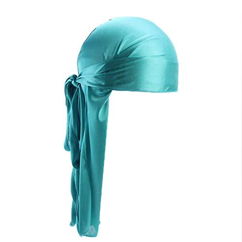 UFODB Hat for Women Männer Frauen Seide Polyester Bandana Hut Durag Rag Tail Headwrap Headwear Geschenk Langer Schwanz Kopf Einwickeln Camouflage Womens Hut