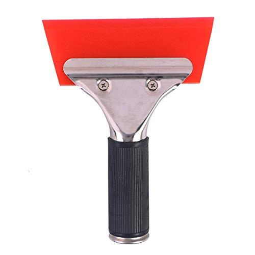 OUNONA Cowhells Blade Rakel für Glas Spiegel Dusche Auto Auto Windows (rot)