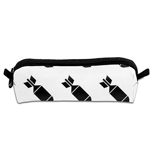 Portable Pencil Case Air Bomb Cartoon Bomb War Pen Bag Cosmetic Pouch Zipper for School -