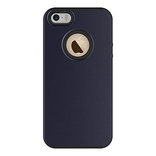 JIALUN-étui pour téléphone Pour Apple IPhone 5 5s & SE Case, Anti-vibrations amovibles PC + TPU Housse de protection de couverture arrière ( Color : Green ) Blue