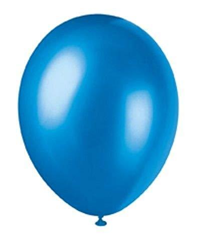 NANA'S PARTY Globos de látex – 30 Colores en 4 tamaños (decoración de Boda, Fiesta), Azul Metalizado, 15 x 12 Balloons