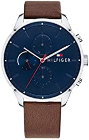 Tommy Hilfiger Men'S Navy Dial Brown Leather Watch - 179