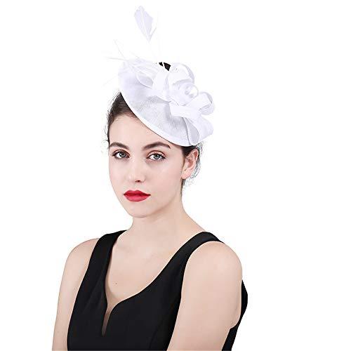 Fengbingl-ac Damen Fascinator Hut Netz Blume Kissen Haarclip Hochzeit Cocktail Derby Kentucky Derby Tee Party Kopfbedeckung