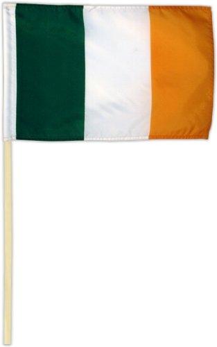 Fahne Flagge Irland 30 x 45 cm mit Stab (Irland Wappen)