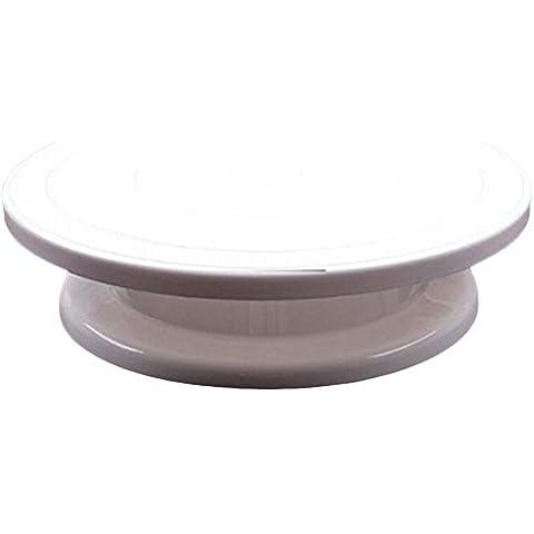 Silicone Bakeware-Base per torta girevole per schermo, colore: bianco