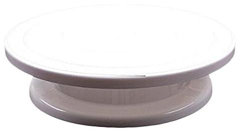 Moule en silicone platine tournante Présentoir à gâteau, blanc