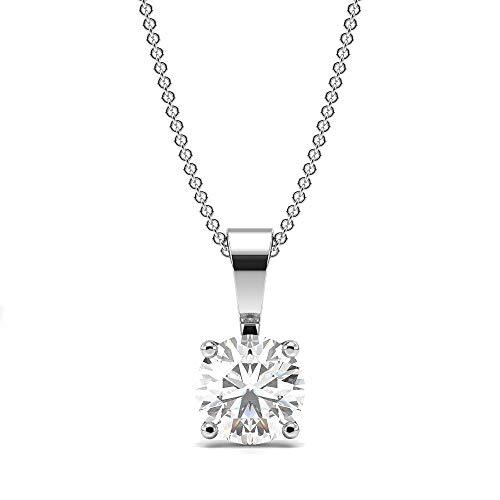 d 18 Karat (750)  14 Karat (585) Weißgold Rundschliff   Leicht Getöntes Weiß/Top Crystal (I) Diamant  ()