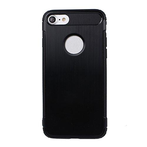 Case iPhone 7 Coque de Protection, Housse iPhone 8 Arrière Etui, Moon mood® Coque iPhone 7 Silicone, Doux TPU Couverture de Protecteur pour Apple iPhone 7 4,7 pouces Soft Case Cover Bumper Shell TPU S 3-Noir