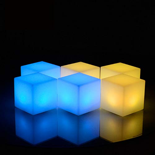 Night Light LED Outdoor Waterproof Cube Chair Rechargeable RGB Remote Control lamps pool bar table cafe ktv hotel decor lighting (Outdoor Light Remote)