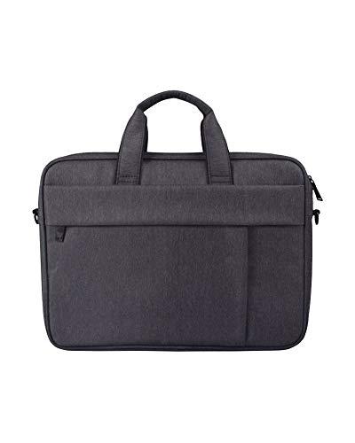 Polyester Laptop Schultertasche Sleeve Hülle Messenger Notebooktasche Beweglicher Schulter Beutel Schwarz 14.1