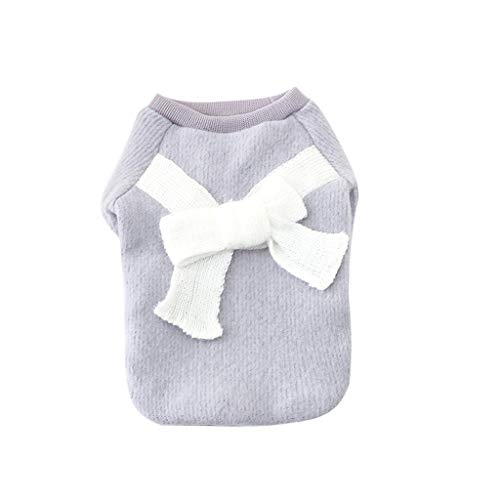 Malloom Mode Haustier Kleidung Welpen Normallack Bogen Knoten Strickjacke Nette Strickjacke Herbst Winter warme