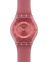 Swatch SFR103 - Reloj analógico de cuarzo para mujer con correa de plástico, color rojo