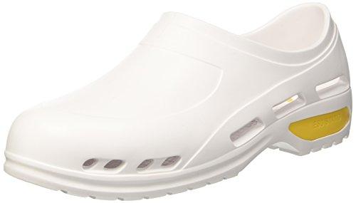 GIMA Scarpa professionale ultra leggera, zoccoli sanitari in gomma, misura 45, colore bianco