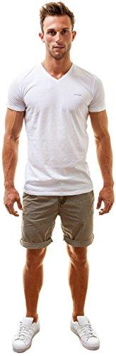 Diesel Herren V-Ausschnitt T-Shirt Michael Weiß