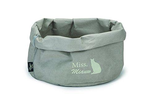 Katzenbett Miss Miauw - grau von Designed by Lotte - aus Wellpappe & präparierten Papier