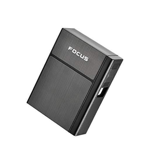 Ruiboury USB-20-Zigaretten-Kasten-Kasten Elektro Flameless windundurchlässiges Zigaretten-Feuerzeug-Metallhalter-Geschäftsmann-Geschenk