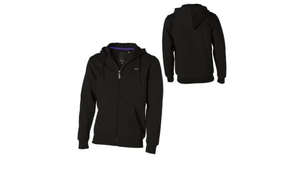 C1RCA Herren Zip Hoodie Essential Fleece, black, S, MCCS161