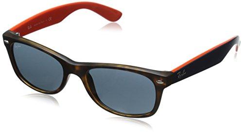 Ray Ban Unisex Sonnenbrille RB2132, Gr. 52mm (Gestell:  Braun, Havanna; Gläser: grau)