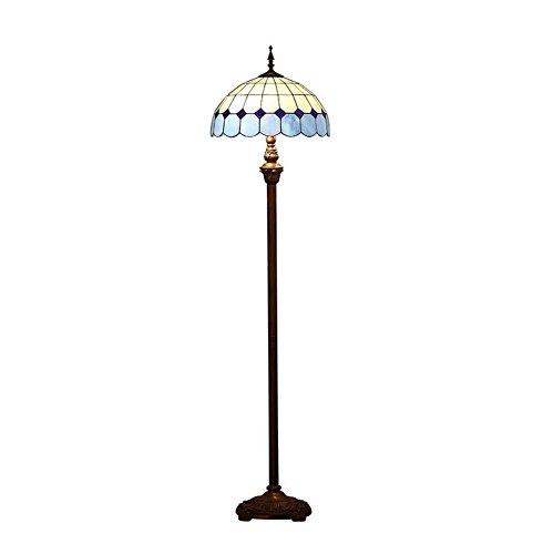 16-Zoll-Tiffany-Stil Stehlampe, moderne einfache Glasmalerei Tischlampe Boden Uplighter, Wohnzimmer, Schlafzimmer, Nacht Dekoration Stehlampe, Reißverschluss Lampe E27, (Glühbirnen nicht im Lieferumfang enthalten)