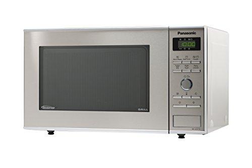 Panasonic NN-GD371SEPG Mikrowelle / 950 W / 23 L / Inverter-Grill / inklusive Pizzabräunungsteller / edelstahl