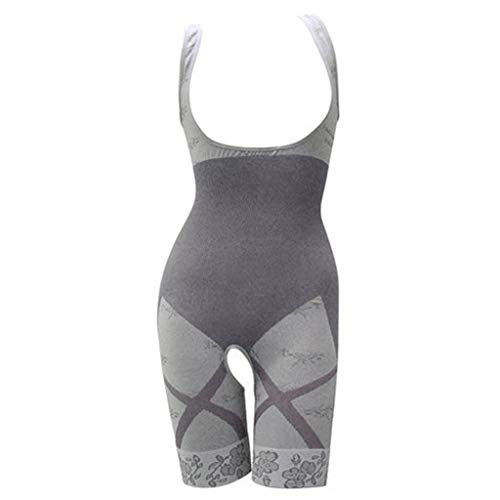 WUSIKY Intimates Damen Abnehmen Bambuskohle Thermal Body Shaper Body Body Ganzkörper Body 2019 Damen Unterwäsche(Grau,XXL/XXXL) - L/s Thermal Henley