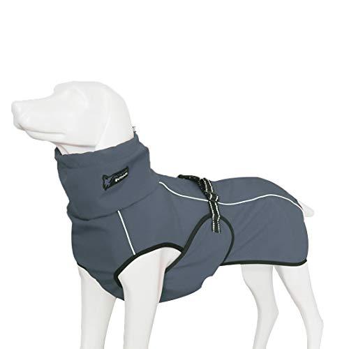 GWELL Hund Hundejacke Wasserdicht Fleece gefüttert Regenjacke Winterjacke Funktion Weste mit D-Ringe Gurt für Mittelgroßen Großen Hund Winter Herbst Frühling Grau XS
