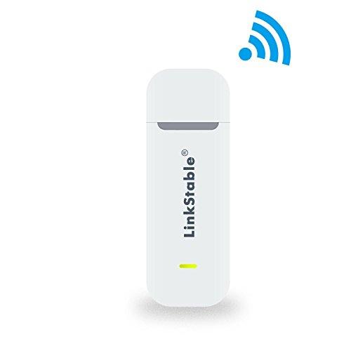 Top-Longer Mobiler Hotspot 4G-LTE-Surfstick bis zu 150 MBit/s, 4G/3G, kabelloses USB-Netzwerk für Arbeit im Innen und Außenbereich. Weiß