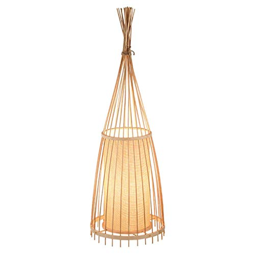 Vintage Bambus Stehlampen, Antike Kreative LED Leinen Beleuchtung Dorf Dekorative Stehlampe Moderne Cafe Restaurant Wohnzimmer Boden Tischleuchte (Size : 39 * 158cm) (Messing Antik Boden Leselampen)