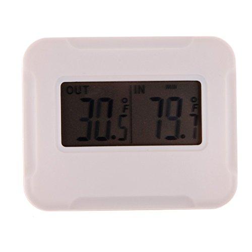 DOMYBEST Thermomètre LCD Numérique Thermomètre Extérieur Intérieur sans Fil
