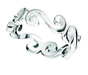 Size K - Women's Sterling Silver Mojo and Mojo Ring. (Sizes K to T Available). Beautifully presented in a pretty box with a bow.