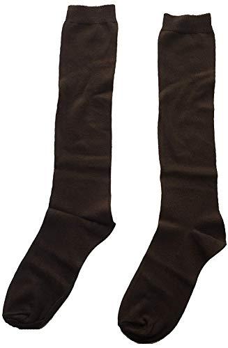 Junior Enfants Uniforme Schoolgear Chaussures Unisexe Filles/Garçons Chaussettes Hautes Genoux Only Uniform - Marron, 12.5 -13.5 Ans