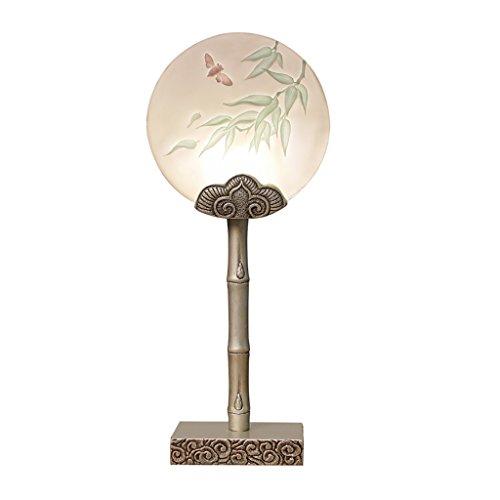 Home experience- Creative Lampe De Bureau Nouveau Chinois Style Résine Lampe Corps Ornemental Cosy Chambre Lampe De Chevet Etude Lecture Lumière