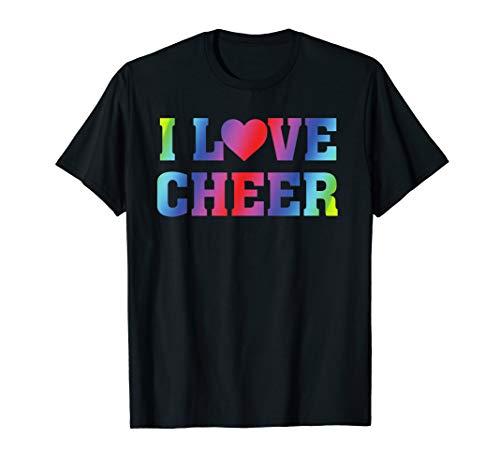 I Heart Love Cheer - Cheerleading Cheerleader Quote T-Shirt -