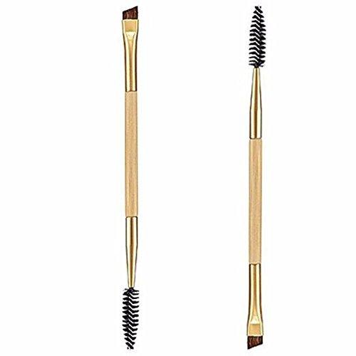 Fulltime® 1PCS Maquillage bambou poignée Double Sourcils Brosse + peigne sourcils