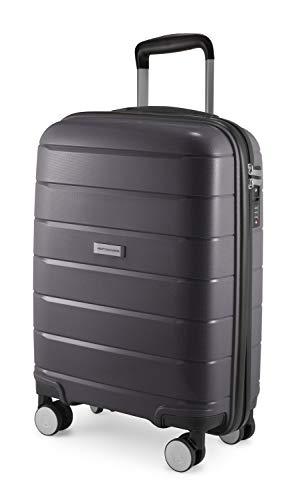 HAUPTSTADTKOFFER - PRNZLBRG - Bagaglio a mano, trolley cabin size, valigia rigida leggera, TSA, 4 ruote, 55 cm, 36 L, Titan