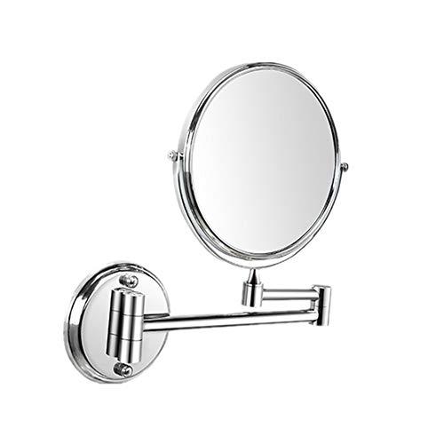 Make-up-Spiegel Schminkspiegel LED-Leucht Make-up Spiegel - Beidseitiger Rasierspiegel mit Normal- und 3-facher Vergrößerung 360 ° drehbar Kosmetik-Spiegel Kompakt, beweglich -