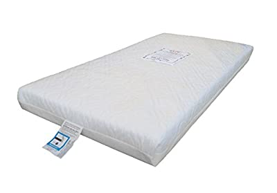KATY® Superior Deluxe Spring Cot Bed-Junior Bed Sprung Mattress 140x70 x 10CM THICK British Made With High Grade Density Foam CMHR28 - cheap UK light shop.