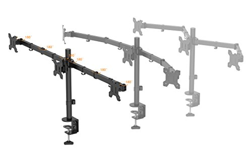 1home Triple produce Desk Mount LCD LED Computer Monitor Bracket have 13 24 show TV Monitor Arms Stands