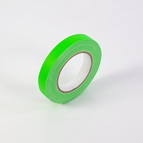Gaffa Tape neongrün uv-aktiv, 19mm x 25m, wasserabweisend - Gewebeklebeband / Gaffer Klebeband - showking