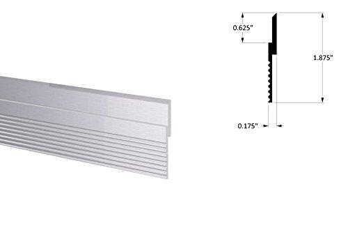 Mill Finish Aluminium (Orange Aluminium French Keil 1-1/5,1cm Z Clip Rails 12