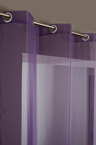 Visillo Clásico con 6 Ojales 140 x 240 cm Violeta