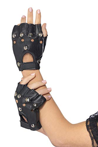 Fingerless Faux Leather Punk Gloves