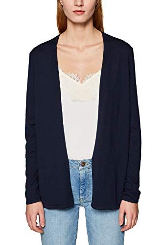 ESPRIT Damen 049EE1I004 Strickjacke, Blau (Navy 400), Small (Herstellergröße: S) - Navy-blaue Strickjacke