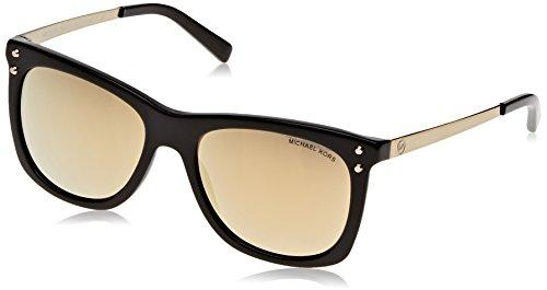 Michael Kors Damen LEX 31607P 54 Sonnenbrille, Black/Liquidgold