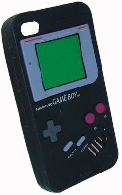 Avcibase Retro Gameboy Bumper Hülle für Apple iPhone 4S schwarz - Bumper Aluminium 4s Iphone Case