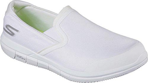 Skechers Go Flex Wxecutive Herren Textile Turnschuhe White