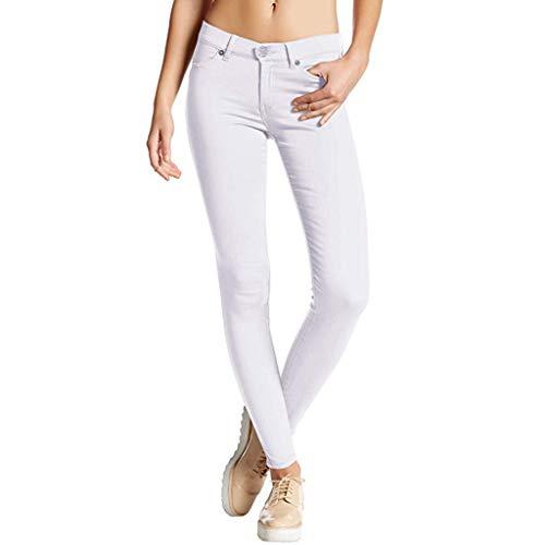 Damen Stretch Hose Skinny Jegging Slim Fit Einfarbige elastische Hose mit hohem Bund Hochwertige Damenhosen Glatte Damen Hose Frauen Sonojie