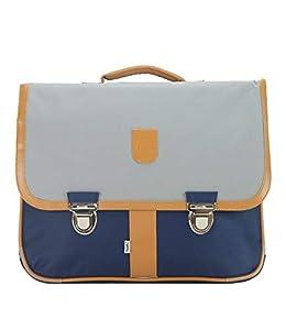 Bagtrotter MSNI10GRIS Miniseri - Bolsa Escolar (39,5 x 16 x 33 cm), Color Azul Marino y Gris