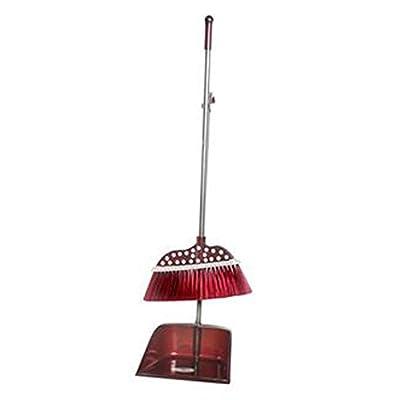 Alien Storehouse Durable Removable Broom und Dustpan Standing Upright Griffe Sweep Set mit Langem Griff, C10